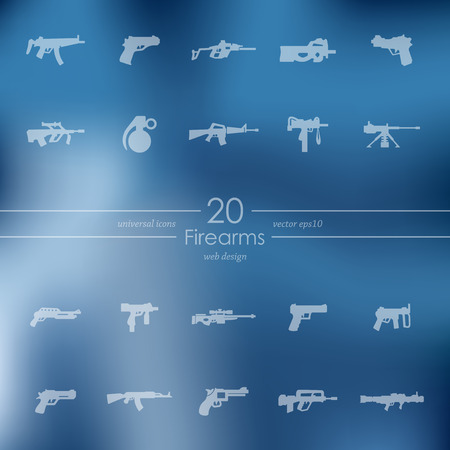 firearms: firearms modern icons for mobile interface on blurred background