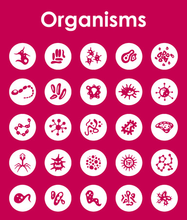 sterilization: It is a set of organisms simple web icons