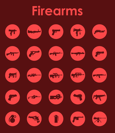 firearms: It is a set of firearms simple web icons Illustration