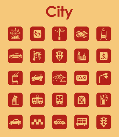 It is a set of city simple web icons Illustration