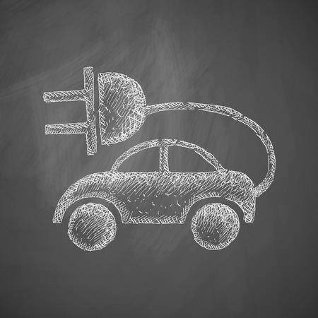 eco car: icono de coche ecol�gico