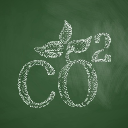 ecological adaptation: co2 sign dioxide icon