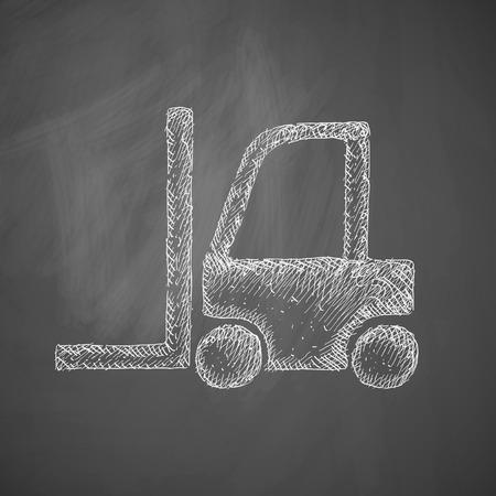 warehousing: forklift icon