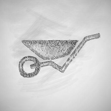 outdoor goods: wheelbarrow icon Illustration