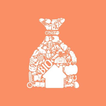 burlap bag: sack icon