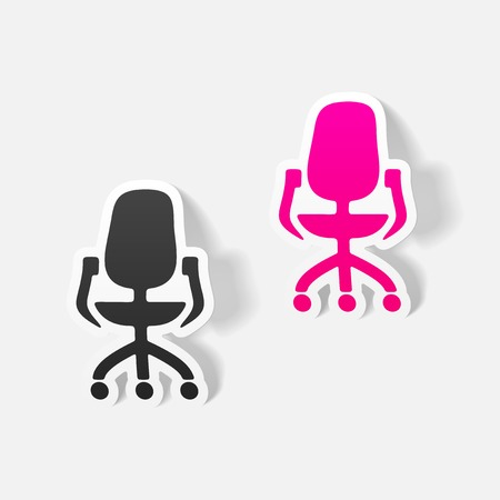 office chair: realistic design element: office chair