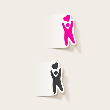 felicit�: realistico elemento di design: la gente felicit�