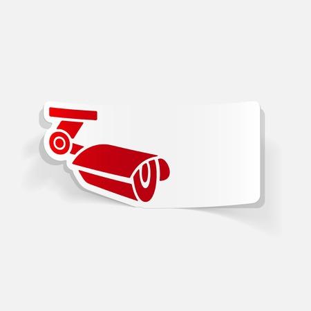 realistische ontwerp element: videobewaking Stock Illustratie