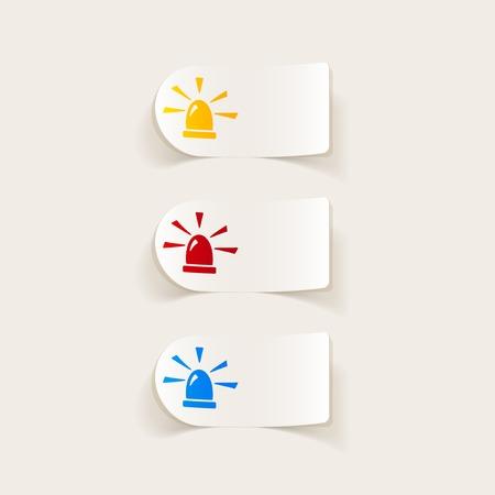 Réaliste élément de design. clignotant Banque d'images - 43593824