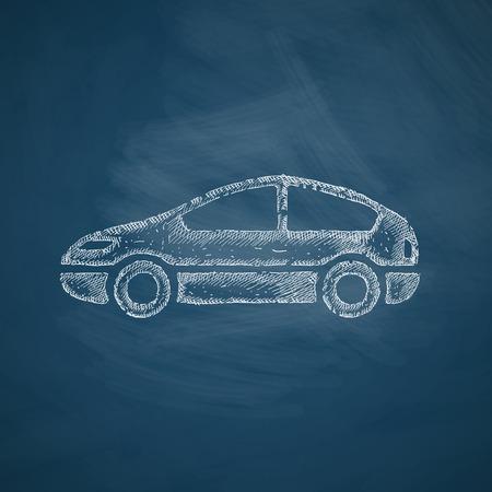 taxista: icono del coche Vectores