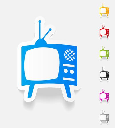 television antigua: elemento de dise�o realista. televisi�n vieja Vectores