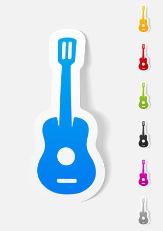 plucking: realistic design element. guitar Illustration