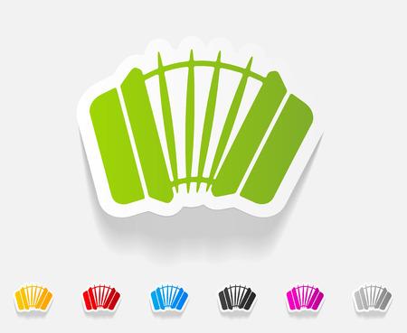 concertina: realistic design element. accordion Illustration