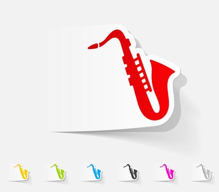 saxofón: elemento de diseño realista. saxófono