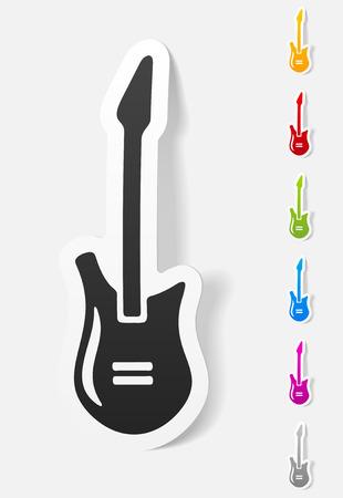 rosewood: realistic design element. electric guitar