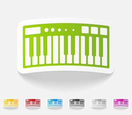 synthesizer: realistic design element. synthesizer