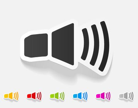 oscillations: realistic design element. sound on Illustration