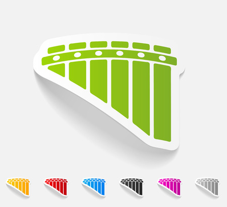 panpipes: realistic design element. panpipes Illustration