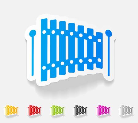 realistic design element. xylophone