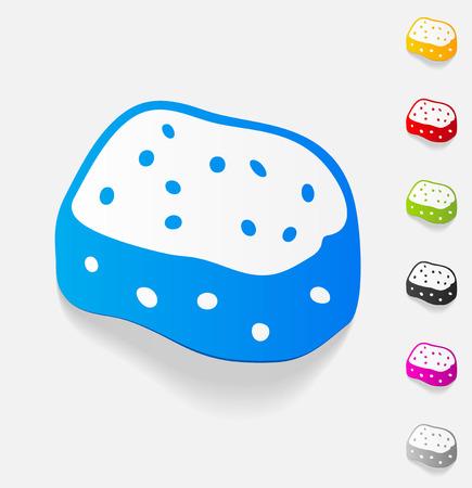 bast: realistic design element. sponge