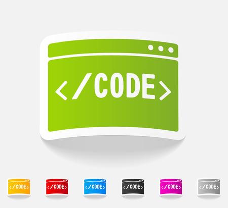 kódování: realistický designový prvek. kódování