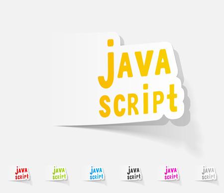 java script: realistic design element. java script Illustration