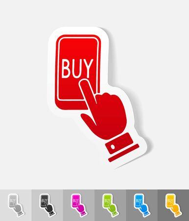 liabilities: realistic design element. online buying