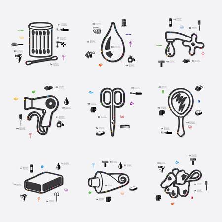 epidemiology: hygiene line infographic illustration. Fully editable vector file Illustration