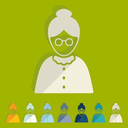 citizens: Flat design: senior citizens