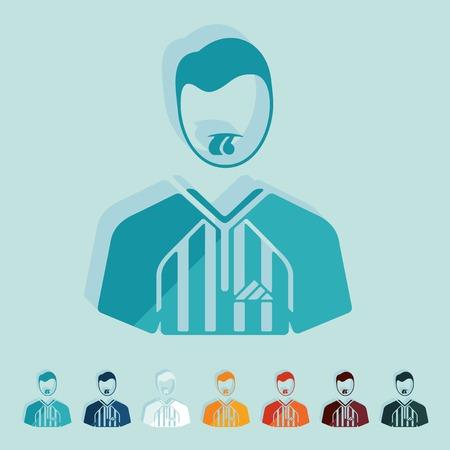 arbitro: Diseño plano: árbitro