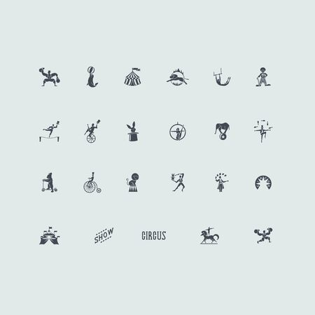 circus ticket: circus vector set of modern simple icons