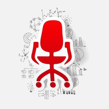 sedia ufficio: drawing business formulas. office chair