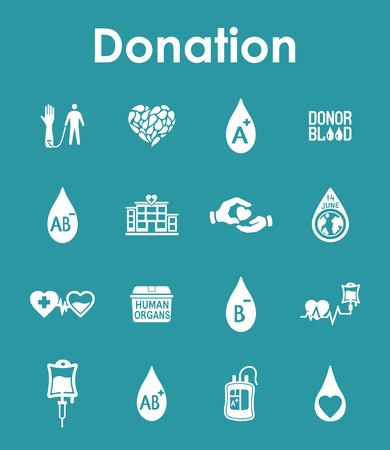 organ donation: Se trata de un conjunto de iconos de la web de donaci�n sencilla Vectores