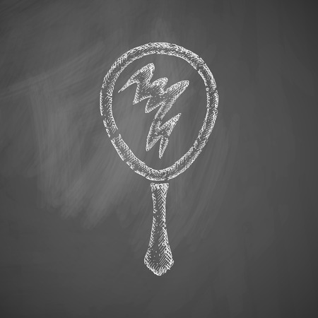 handdrawn: hand mirror icon Illustration
