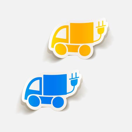 eco car: realistic design element: eco car Vectores