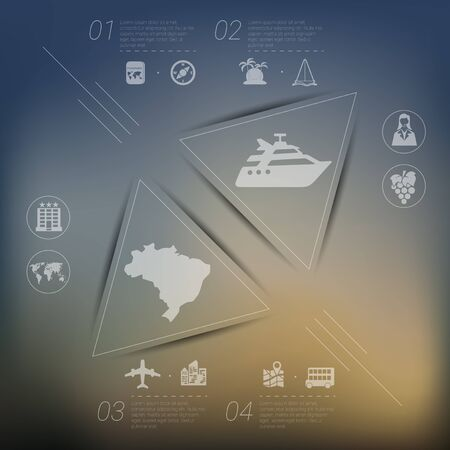unfocused: tourism infographic with unfocused background