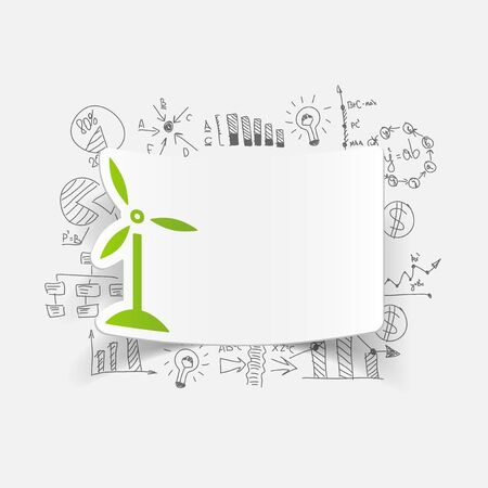 turbines: drawing business formulas. wind turbines