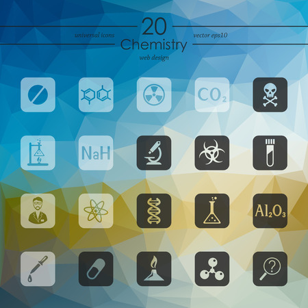 bunsen burner: chemistry modern icons for mobile interface on blurred background