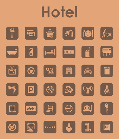 porter house: It is a set of hotel simple web icons Illustration