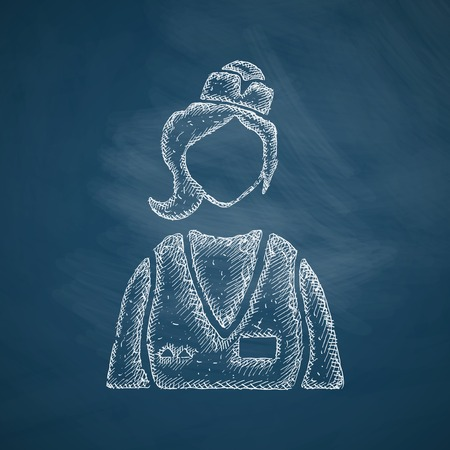 saleswoman: saleswoman icon Illustration