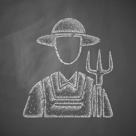 school work: farmer icon