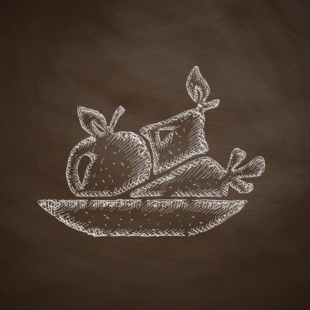 alimentacion sana: icono de la comida sana