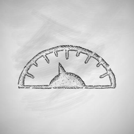 steelyard: bathroom scale icon Illustration