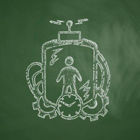 time machine: time machine icon Illustration