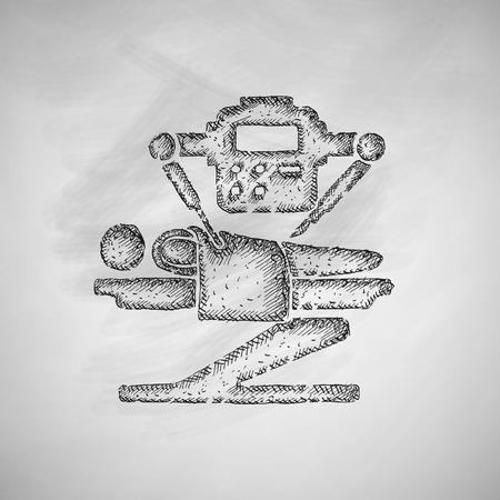 chirurgo: robot icona chirurgo Vettoriali