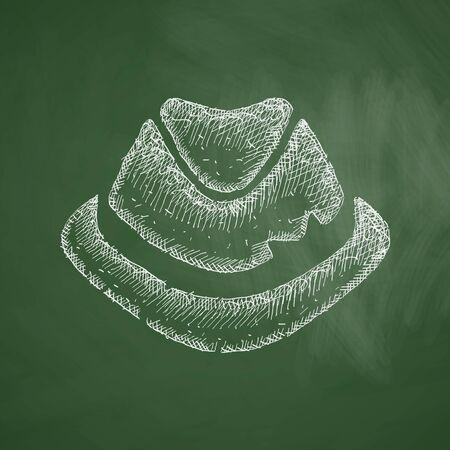alumnos en clase: icono sombrero