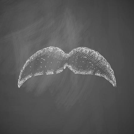 style goatee: mustache icon