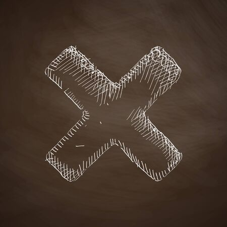 cross hatching: cross icon