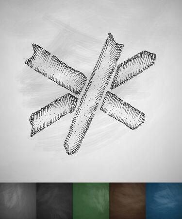 barricade: barricade icon. Hand drawn vector illustration. Chalkboard Design Illustration