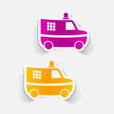 politieauto: realistic design element. police car Stock Illustratie